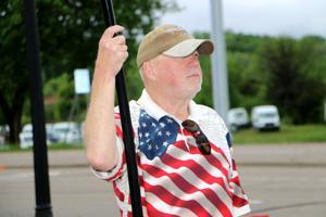 Patriot waves U.S. flag on Memorial Day in Jordan
