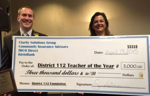 Tim Beckler is teacher of the year