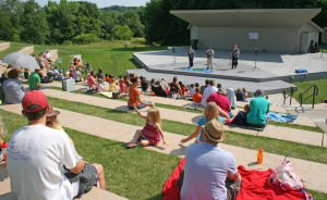 Worship outdoors in 'God's Great Sanctuary'