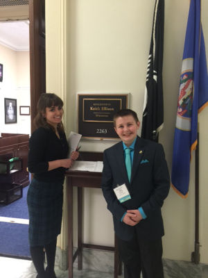 Former Harriet Bishop student speaks about Tourette's at Capitol Hill
