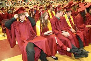 Class of 2015 graduates with Jordan pride