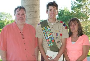 Scout honored for heroism