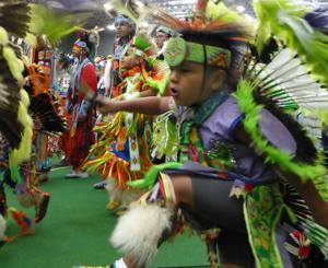 Wacipi celebration moves inside, beats the rain