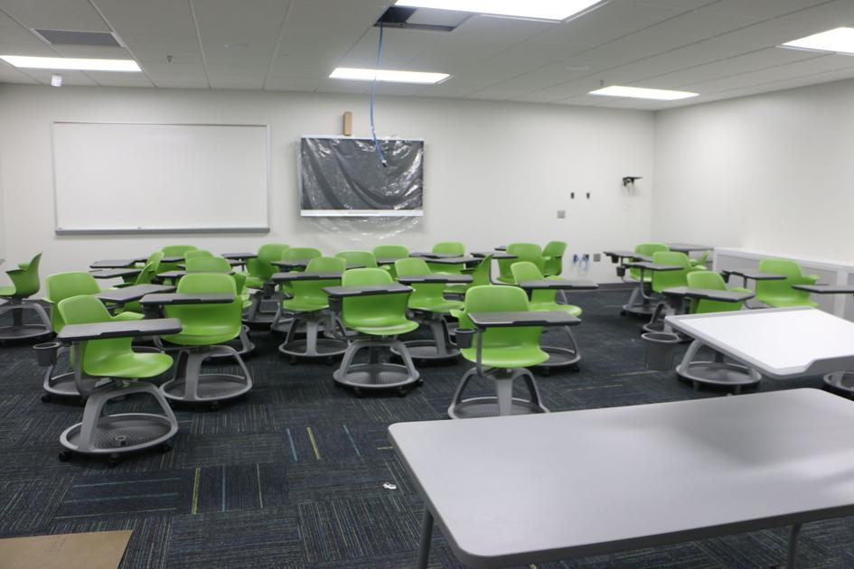 New classrooms with modern furniture fixtures and equipment - Great contemporary school furniture ...