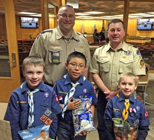 Scouts donate popcorn to 'hometown heroes'