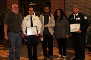Three honored for their response to January townhome fire