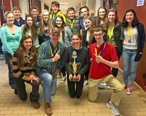 OHS science team finishes first at regionals