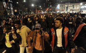 Protesting police shooting