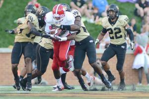 Alston tackled against Wake Forest