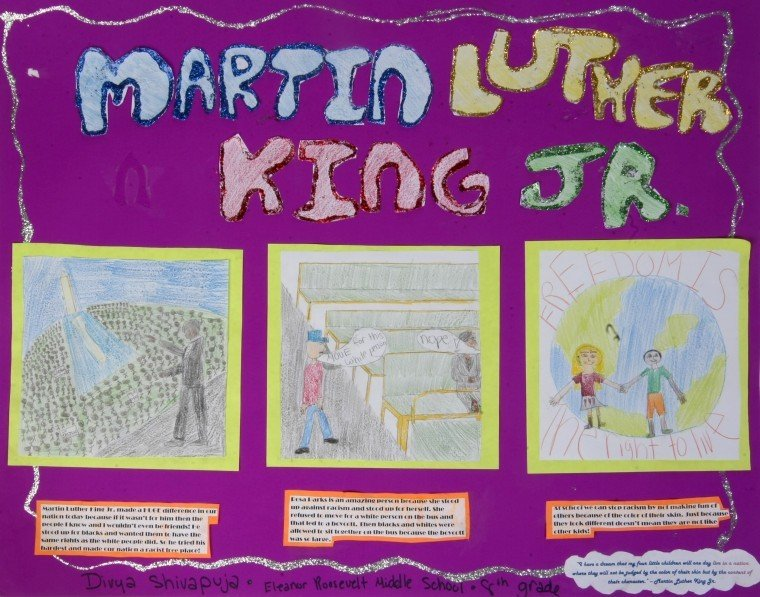 What is a good idea for a poster for a Martin Luther King Jr contest?