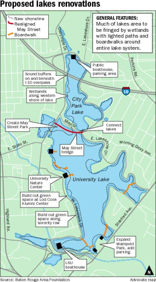 Maps released Thursday detail proposed upgrades to Baton Rouge lakes _lowres