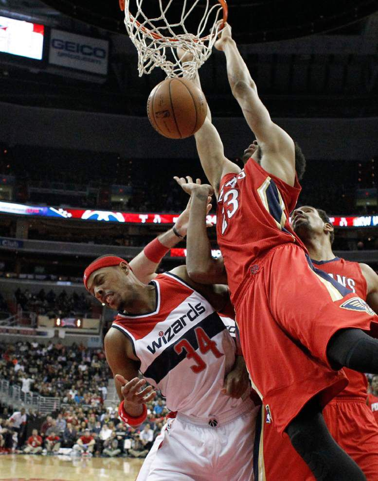 Pelicans' skid against Washington reaches 7 games in 83-80 loss _lowres