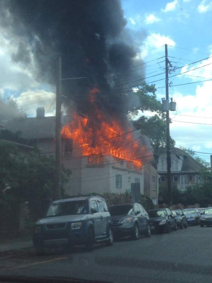 One resident injured as Uptown New Orleans home catches fire on Wednesday _lowres