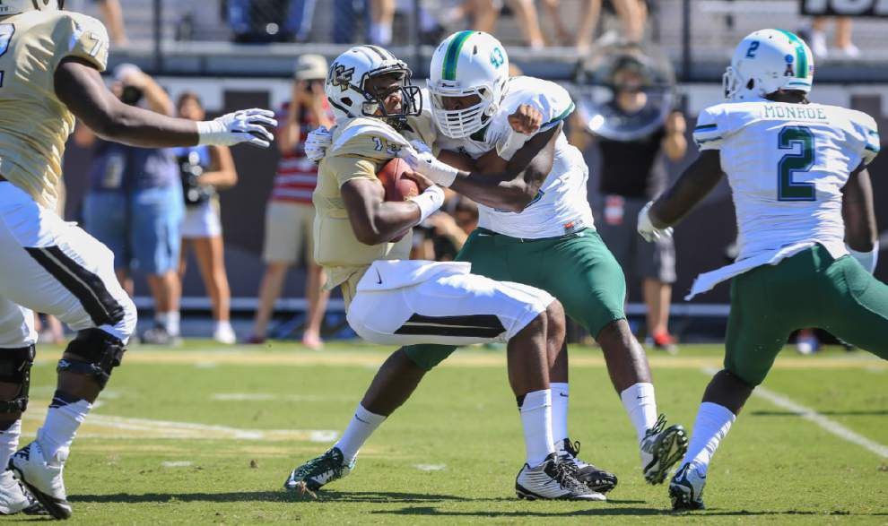 Tulane defense does its part at Central Florida, forces four turnovers in 20-13 loss _lowres