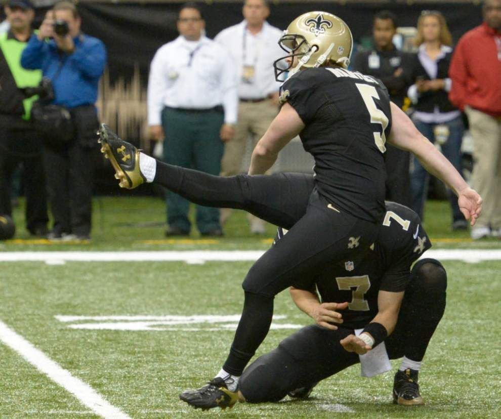 Saints try out three kickers _lowres