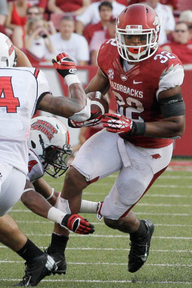 Arkansas RB trio evokes memories of school's best _lowres