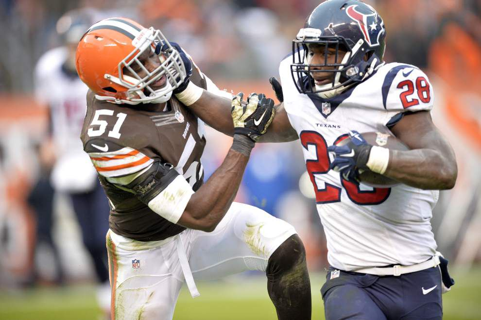 J.J. Watt, Alfred Blue spark Texans over Browns _lowres