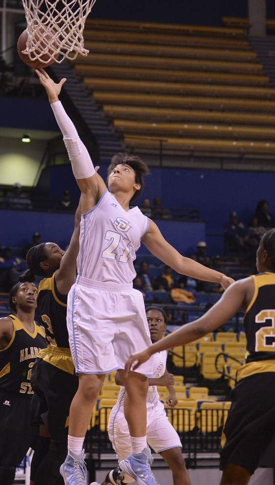 Free-throw woes can't derail Southern women, who post their 12th straight win _lowres