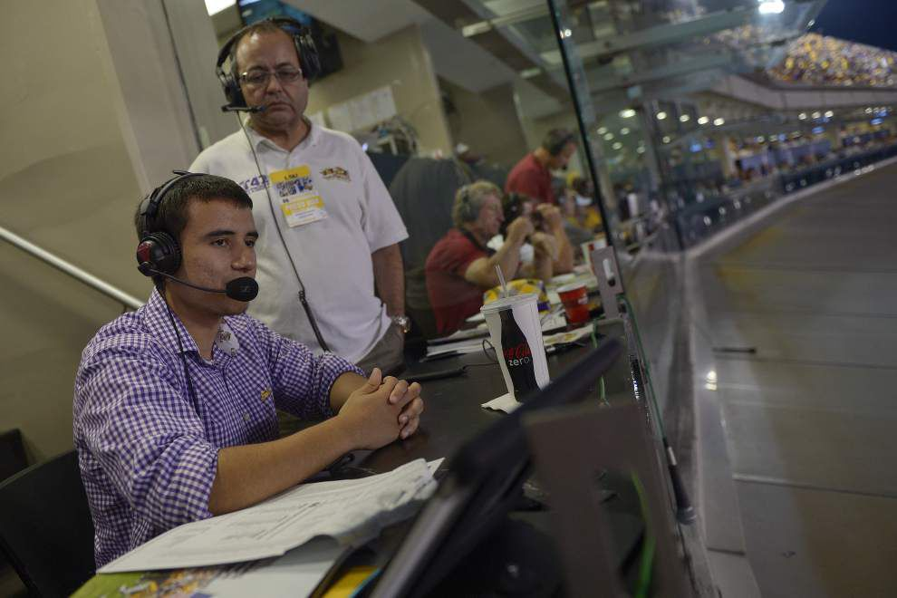 LSU sophomore living his dream, broadcasting LSU games for Spanish-language radio stations _lowres