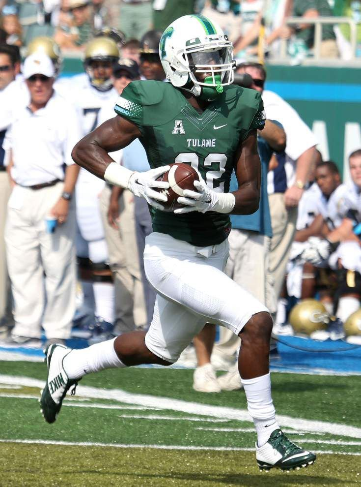 Source: WR Xavier Rush's Tulane career is over after suffering torn ACL _lowres