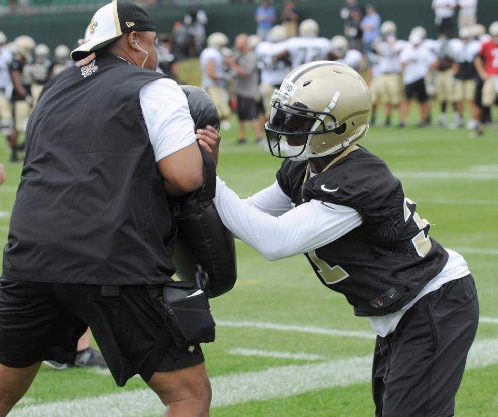 The Advocate's sports tweets: Jairus Byrd practices at Saints camp _lowres