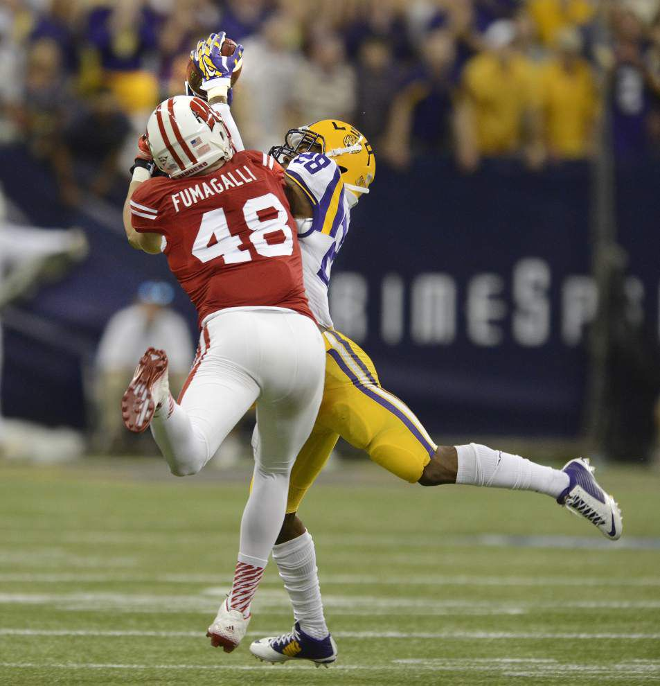 Video: LSU safetu Jalen Mills says he is very familiar with Sam Houston State receiver Derrick Edwards _lowres