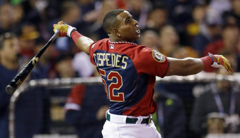 Yoenis Cespedes wins again, beating Todd Frazier in HR derby _lowres