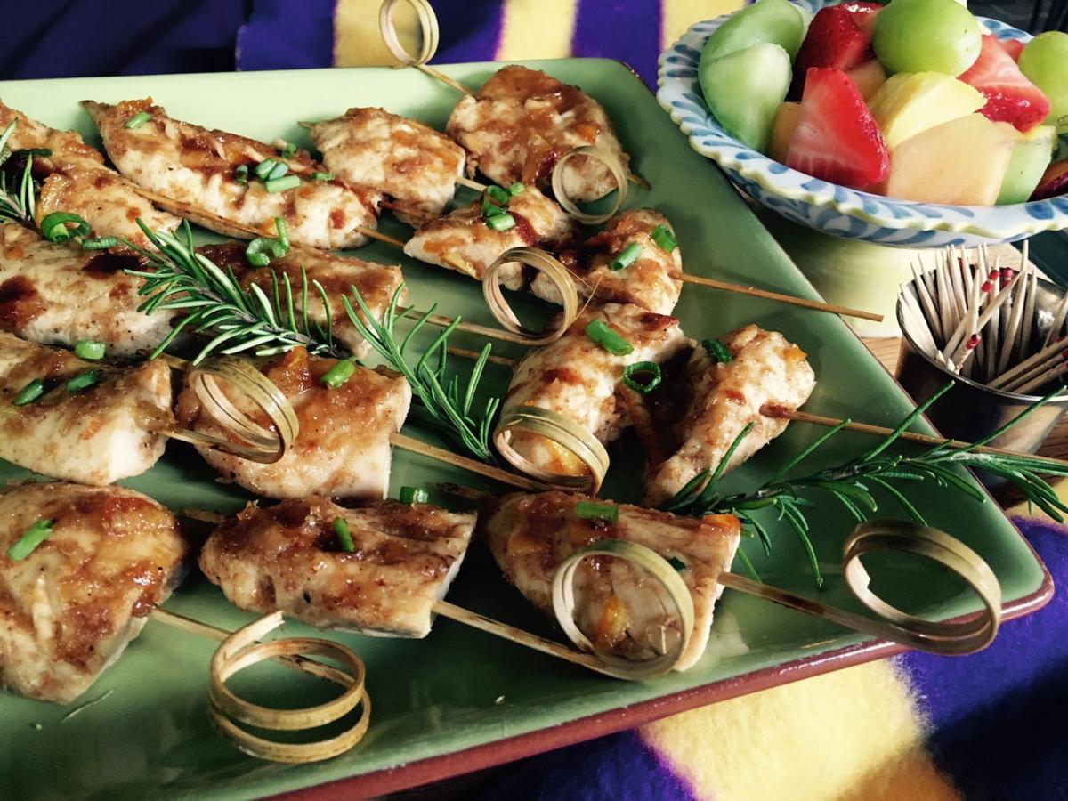 glazed chicken strips 1