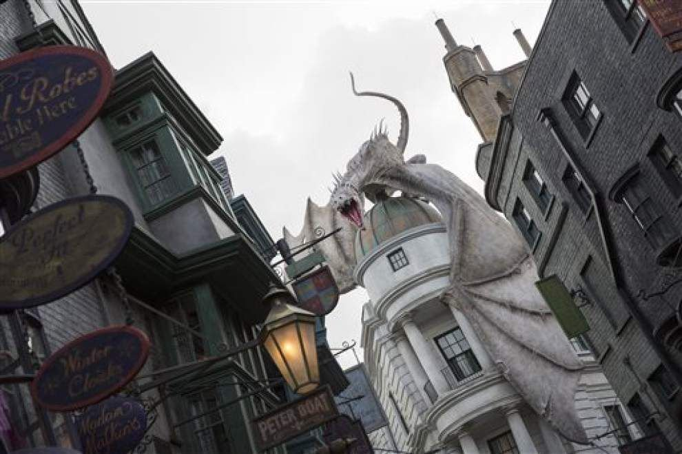 Visitors wait 5 hours for Harry Potter ride _lowres