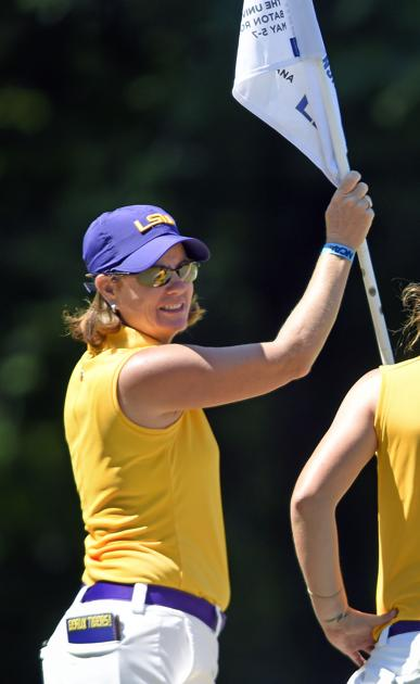 After fall setbacks, LSU women's golf team aiming high in spring season