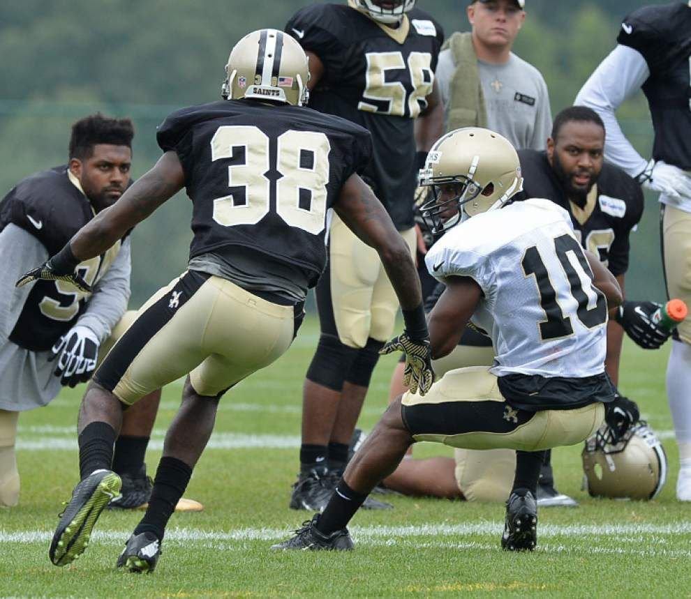Brees held out as precaution, Cooks makes big plays in Saints' scrimmage _lowres