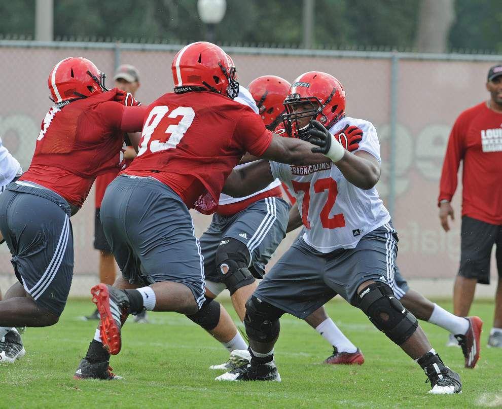 Ragin' Cajuns ramp up practice pressure as camp clock ticks away _lowres