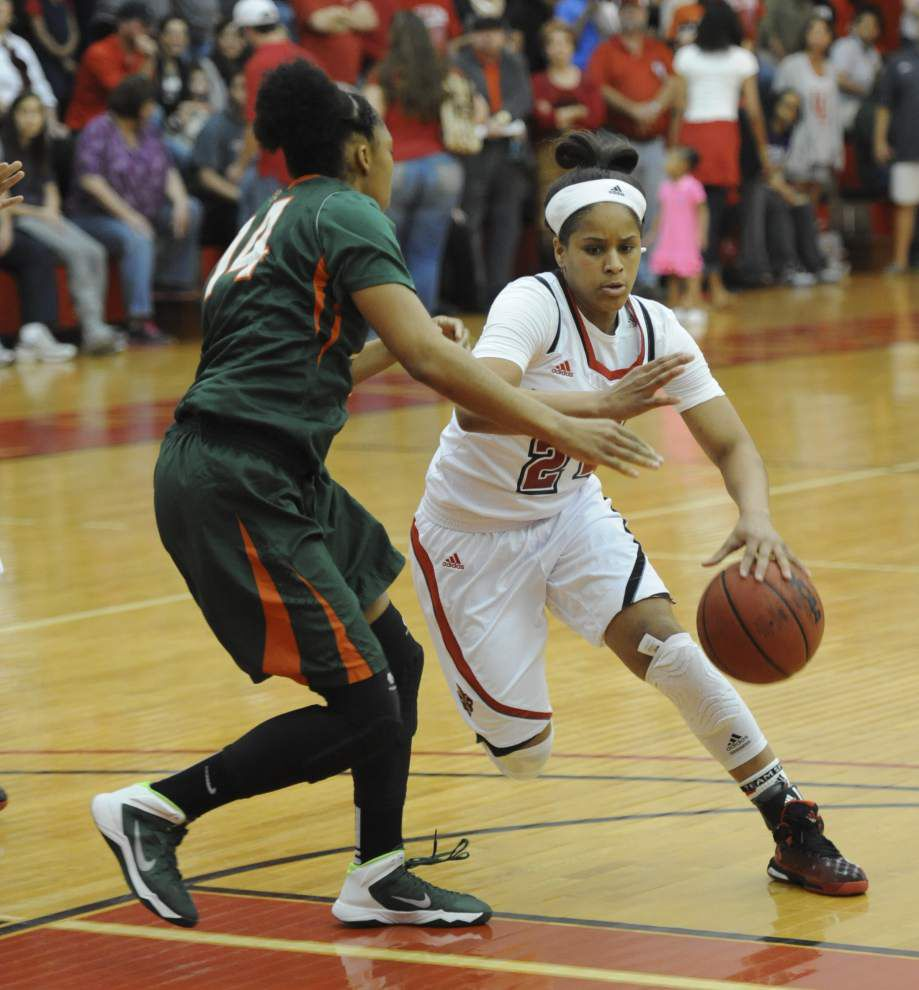 By beating Texas-Pan American, Cajuns women get 20th win, first postseason tourney victory _lowres