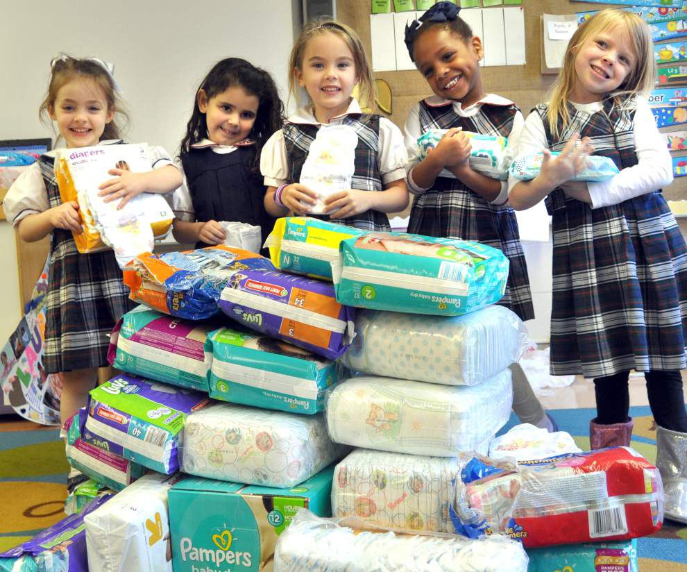 New Orleans school collaborates with Junior League Diaper Bank initiative _lowres