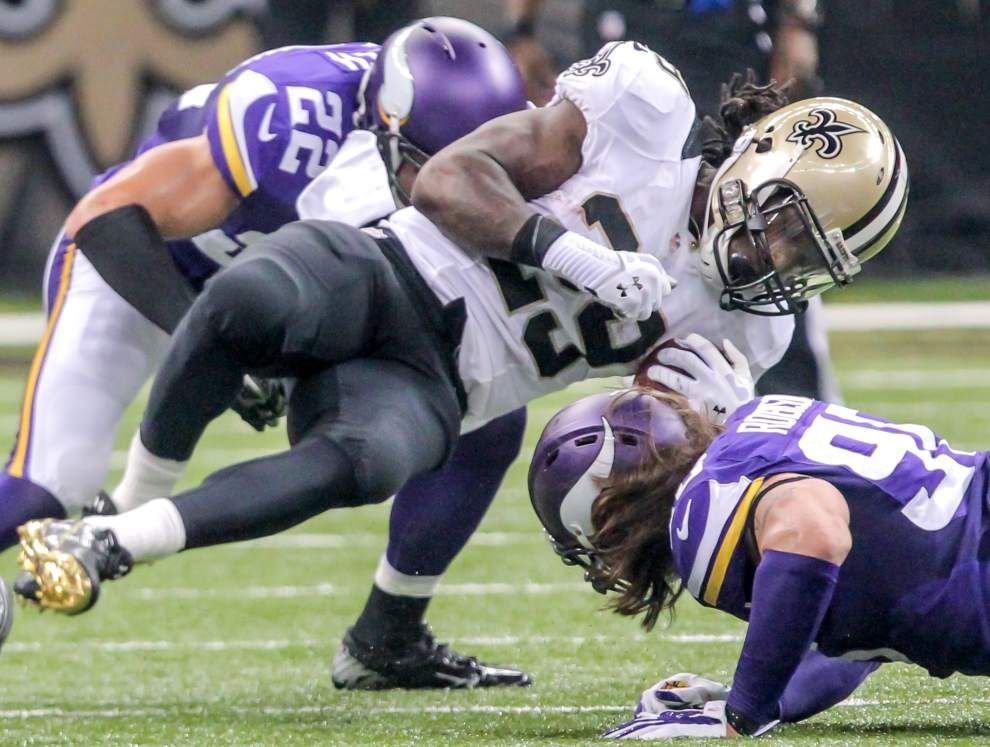 Khiry Robinson returns to the Saints' line-up after missing six contests _lowres