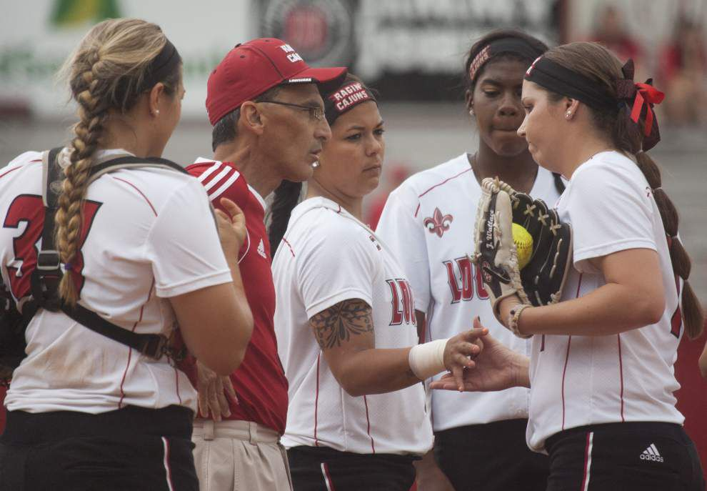 Ragin' Cajuns softball team, hosting Georgia State, tries to press on without coach Mike Lotief _lowres