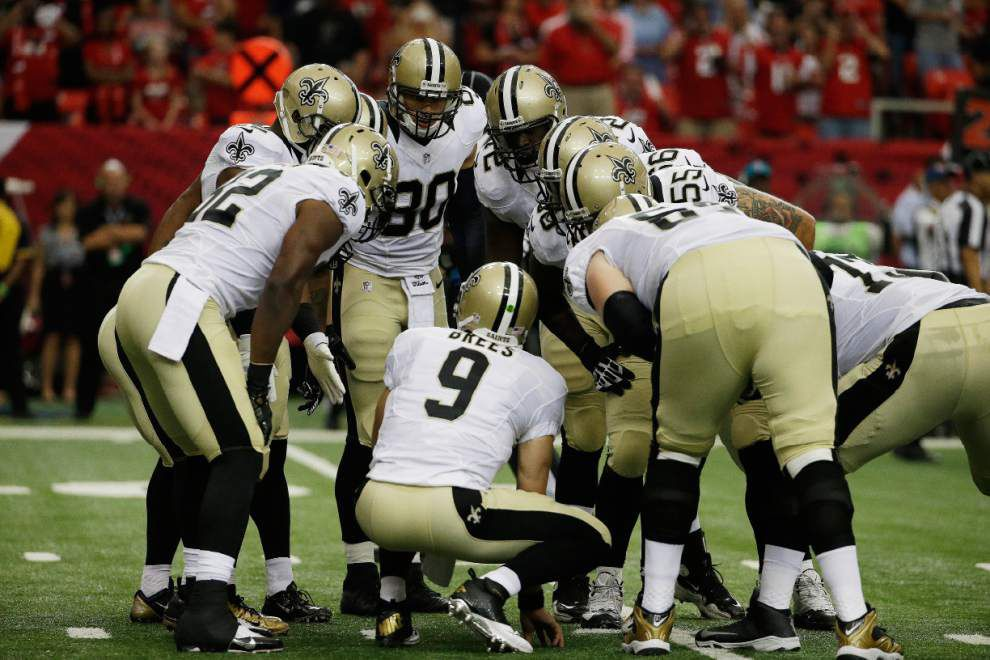 The Atlanta Falcons defeat the New Orleans Saints 37-34 in overtime in both teams' season opener _lowres