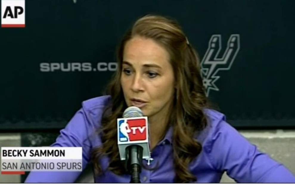 NBA's Spurs hires Becky Hammon as assistant coach _lowres