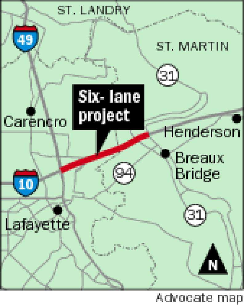 DOTD rolling out plans to widen Acadiana stretch of I-10 _lowres