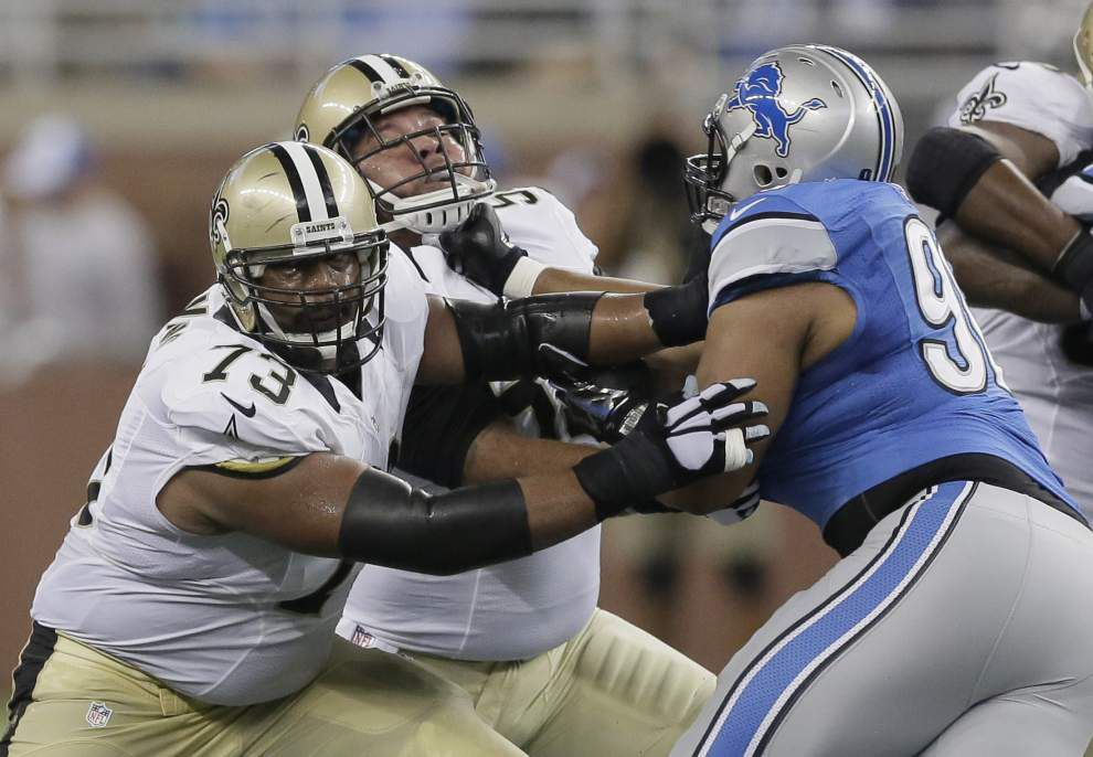 Saints center Jonathan Goodwin says he has been out with an MCL sprain _lowres