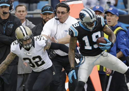 Kenny Vaccaro fined for horse-collar tackle on Panthers RB DeAngelo Williams