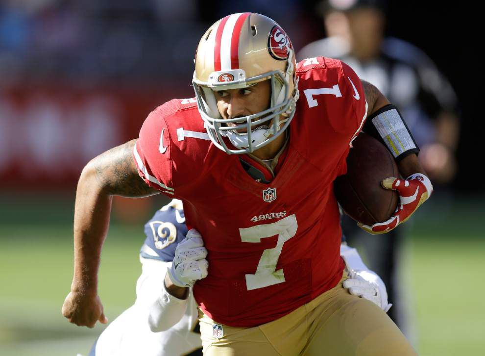 Saints expect test from unpredictable San Francisco 49ers quarterback Colin Kaepernick _lowres