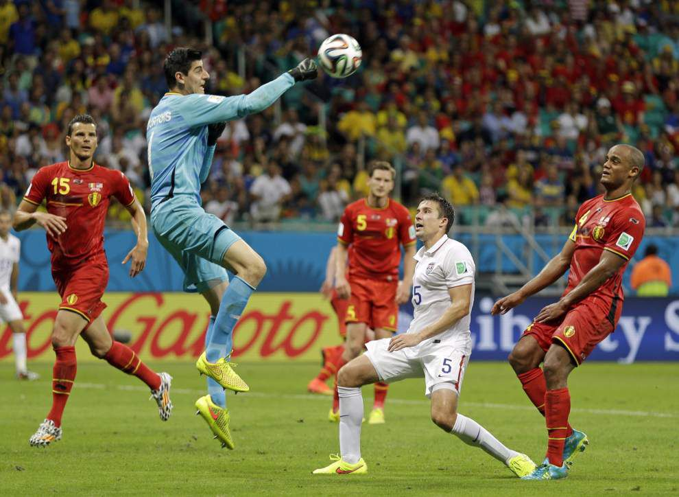 Belgium defeats the U.S. 2-1 in extra time in the World Cup _lowres