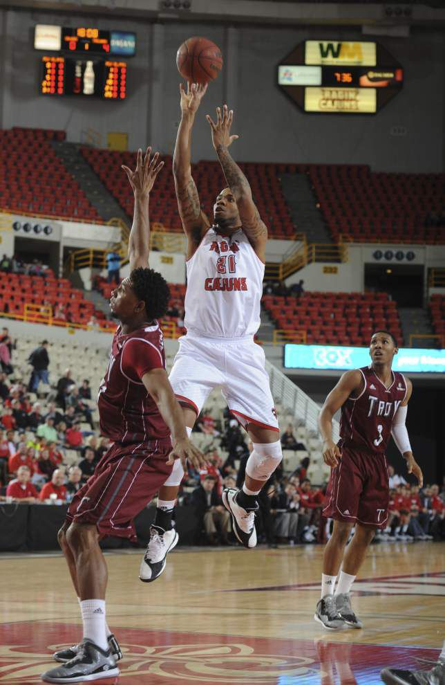 Hot shooting leads UL-Lafayette men past Troy 91-64 for a 2-0 start in Sun Belt play _lowres