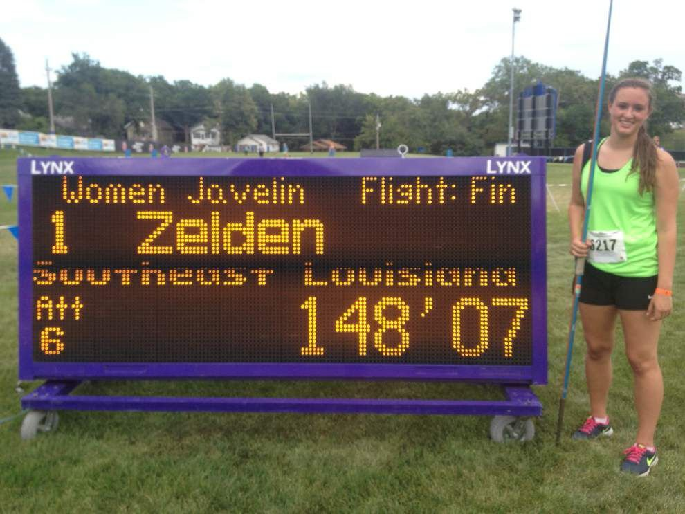 St. Scholastica's Samantha Zelden just misses javelin record at Allstate Sugar Bowl Track and Field Classic _lowres