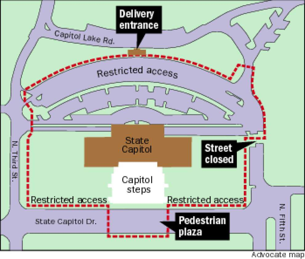 Capitol access more difficult as security project begins _lowres