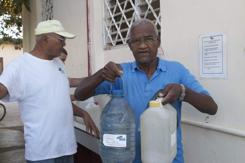 Water purification system provided by New Orleans church is a lifeline in Cuban city _lowres
