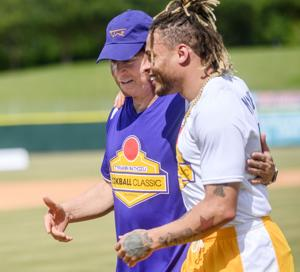 Les Miles and Tyrann Mathieu are together again — if only for a day