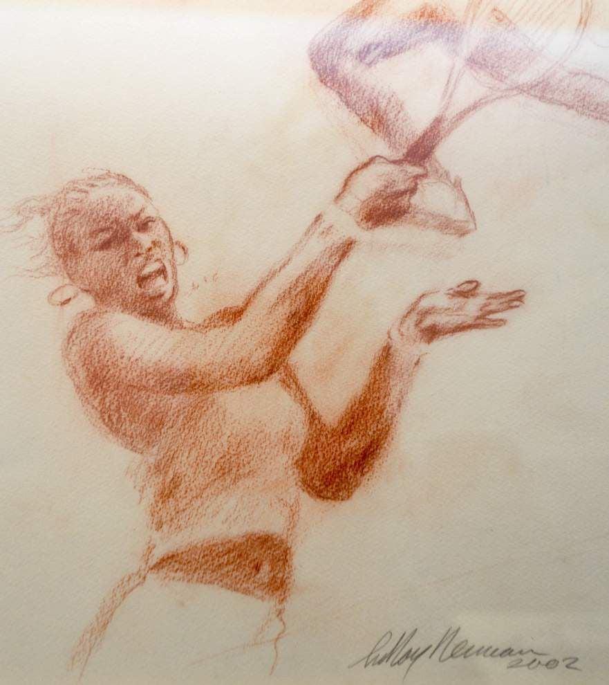 LeRoy Neiman exhibit part art, part sports, all energy _lowres