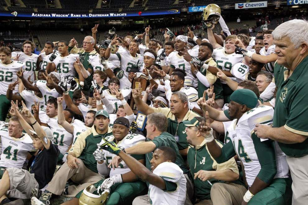 Acadiana defeats Destrehan 23-7 to win the LHSAA Class 5A state football championship _lowres